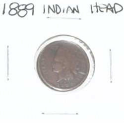 1889 INDIAN HEAD PENNY *PLEASE LOOK AT PICTURE TO DETERMINE GRADE*!!