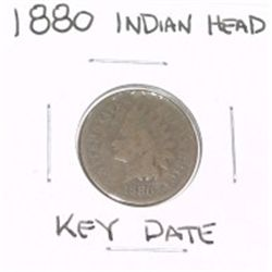 1880 INDIAN HEAD PENNY RARE KEY DATE *LOOK AT PICTURE TO DETERMINE GRADE*!!