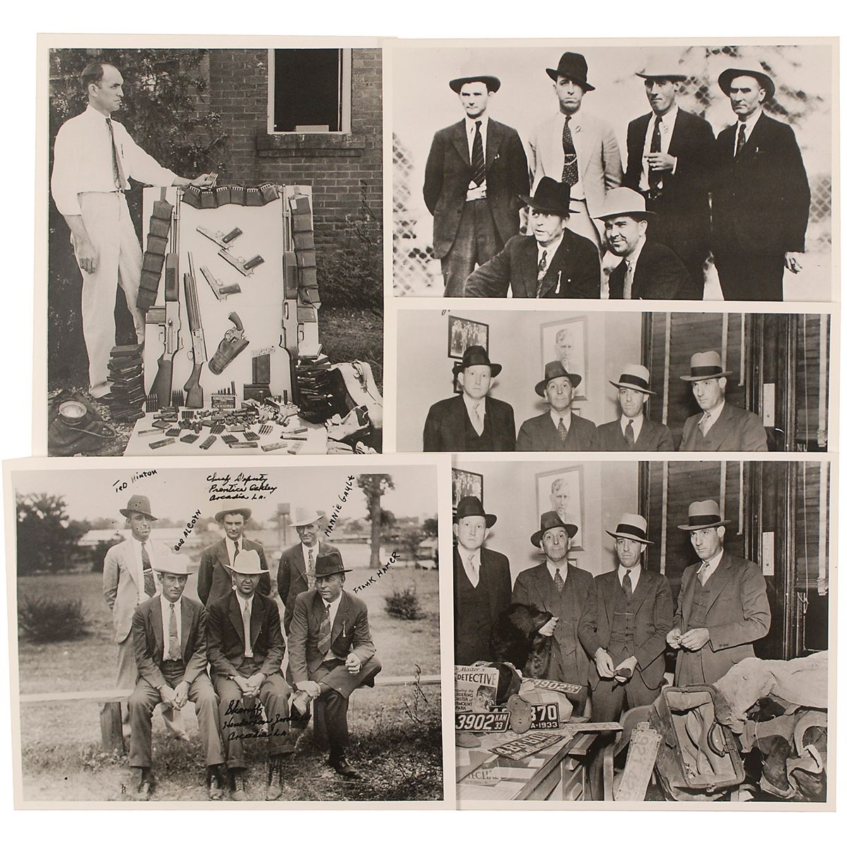 Bonnie And Clyde Frank Hamer And Posse Photos