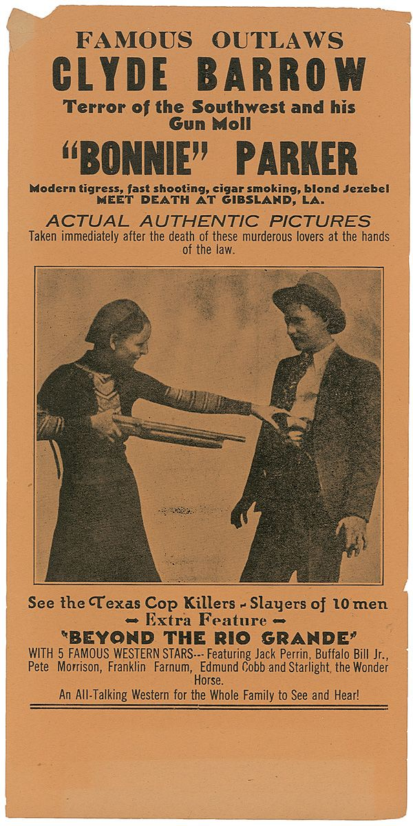 Bonnie and Clyde Broadside