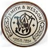 1588 - SMITH &amp; WESSON METAL SIGN - APPROX. 11.5&quot; DIAM.