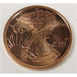 1485 - 1 OUNCE .999 COPPER WALKING LIBERTY COIN