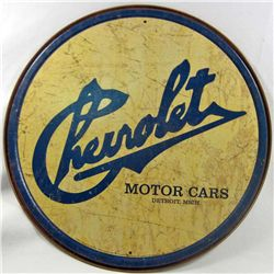 "1584 - CHEVROLET METAL SIGN - APPROX. 11.5"" DIAM."