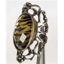 645 - ORNATE ZEBRA STONE RING