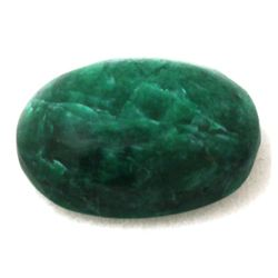 Natural 11.8ctw Genuine Emerald Cabushion Stone