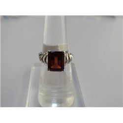 18.25 CTW GARNET RING .925 STERLING SILVER