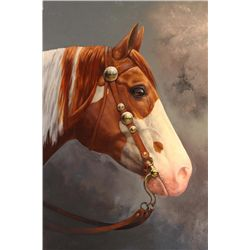 "Chuck DeHaan - "" The Winner "", Oil On Canvas, 30"" X 24"""