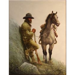 "Chuck DeHaan - "" High Lonesome"", Oil On Canvas, 18"" X 24"""