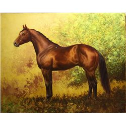 "Chuck DeHaan - "" His Saddle Mark"", Oil On Canvas, 24"" X 30"""