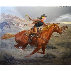 "Chuck DeHaan -""Yellow Rose of Texas"", Oil On Canvas, 40"" X 48"""