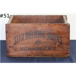 Star Bottling Works Milwaukee, Wis Antique Box