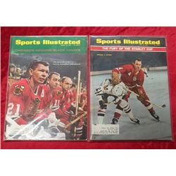 2 1960's Sports Illustrated Hockey Cover Issues