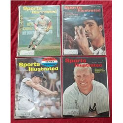 4 1960's Sports Illustrated Baseball Star Issues
