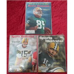 3 1960's Sports Illustrated GB Packers Issues