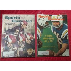 2 Early 1960's Sports Illustrated Football Issues