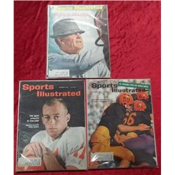 3 1960's Sports Illustrated College Football