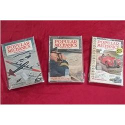 3 Popular Mechanics Magazines - 1948, 1950 & 1954