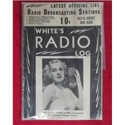 1940 Whites Radio Log - July/August Single Issue