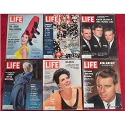 6 1962 Life Magazine Issues