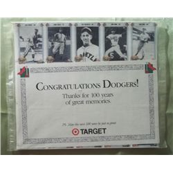 NIP Target Congratulations 100 Years Dodgers Cards
