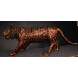 "Life Size Tiger Bronze 91"" in Length"