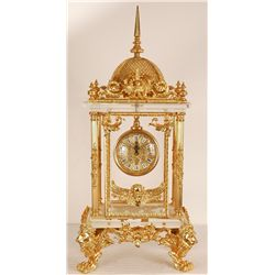"Glass and Gold Leaf Clock 30""Tall"