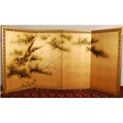 "Kiohiko Asian Four Paneled Screen 72""L"