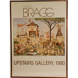 "Autographed Charles Bragg Framed Poster 24"" x 33"""
