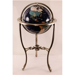 "Gemstone Globe 33"" Tall"