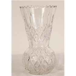 "Crystal Vase 8"" Tall"