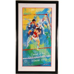 "Leroy Neiman ""Games of the XXII Olympiad Moscow 1980"" Poster"