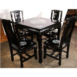 Mother of Pearl Dining Table With Four Chairs