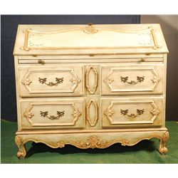Country Style Ivory Secretary Desk
