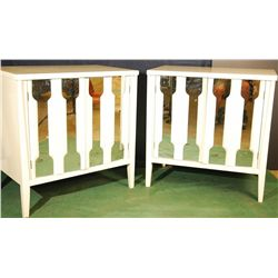 Pair - Large Vintage Mirrored Night Stands