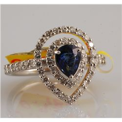 1.47ct - Sapphire and Diamond Ring