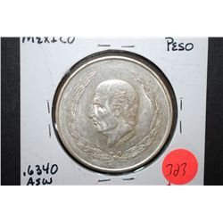 1952 Mexico Cinco (5) Pesos Foreign Coin; EF40; .6340 ASW 0.720 Ley; EST. $25-40