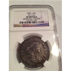 1805 Silver Half Dollar, NGC XF Details