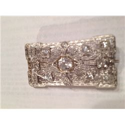 2 1/4 CARAT DIAMOND 18K GOLD BROOCH, 9.26 GRAMS GOLD