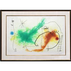 Joan Miro, Partie de Campagne IV, Etching and Aquatint