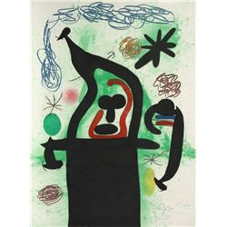 Joan Miro, La Harpie, Etching, Aquatint and Carborundum