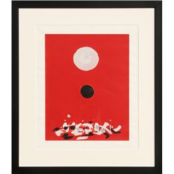 Adolph Gottlieb, Crimson Ground, Silkscreen