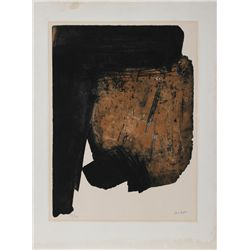 Pierre Soulages, Composition, Aquatint Etching