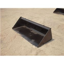 "Skid Steer 72"" Smooth Bottom Bucket"