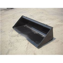 "Skid Steer 66"" Smooth Bottom Bucket"