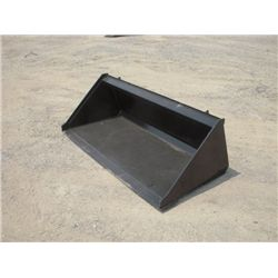 "Skid Steer 60"" Smooth Bottom Bucket"