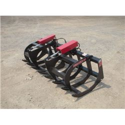 "Versatech Skid Steer 66"" Dual Cylinder Brush Grapple"