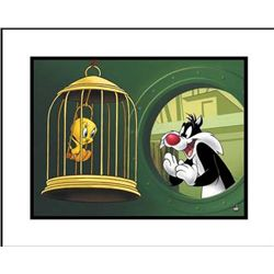 Looney Tunes Original Giclee Bird in a Guilty Cage Art