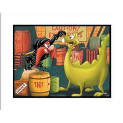 Stupid Dragon Giclee Original Art Looney Tunes