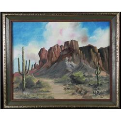 Bill Rasley Original Painting Western Landscape -Framed