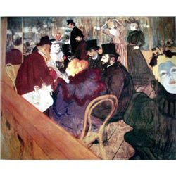 Toulouse-Lautrec Ltd Art Print At The Moulin Rouge